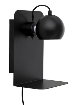 Image of   Frandsen Ball væglampe med USB (mat sort)
