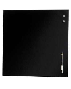 Moderne Glastavle magnetisk 78x78 cm incl. magneter og marker/tusch AA-51